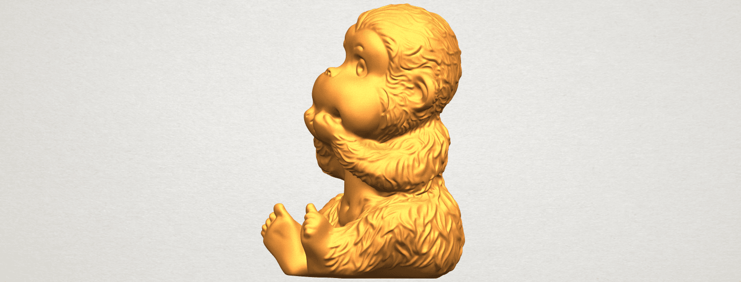 A03.png Download free STL file Monkey A04 • Model to 3D print, GeorgesNikkei