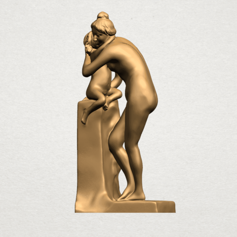 Mother-Child (i) A04.png Download free STL file Mother and Child 01 • 3D printing design, GeorgesNikkei