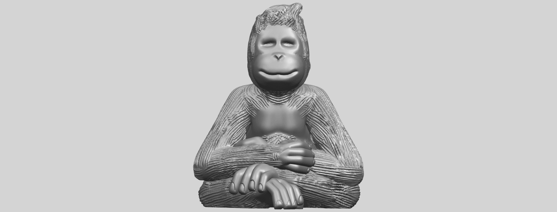 09_TDA0606_ChimpanzeeA01.png Télécharger fichier STL gratuit Chimpanzé • Design imprimable en 3D, GeorgesNikkei