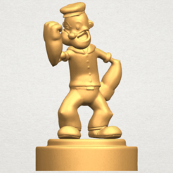 Download free 3D printing templates Popeye, GeorgesNikkei