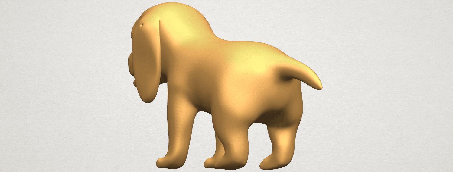 TDA0533 Puppy 01 A07.png Download free STL file Puppy 01 • 3D printer template, GeorgesNikkei
