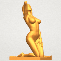 Modèle 3D Fille nue - Bended Knees 03, Miketon