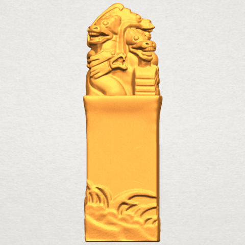A09.png Download free STL file Dragon Stamp 02 • 3D printing model, GeorgesNikkei