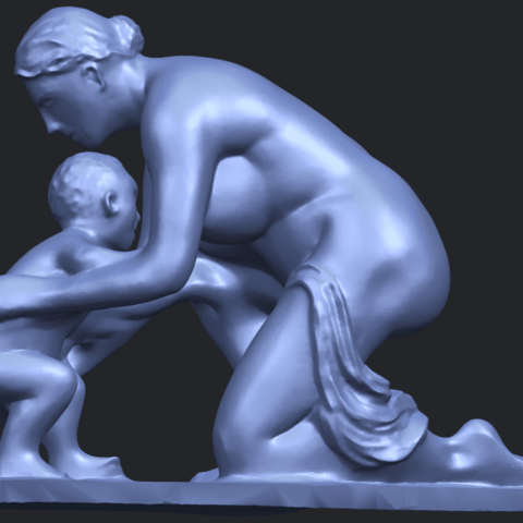 10_Mother-Child_(iv)_90mm_(repaired)B01.png Download free STL file Mother and Child 04 • 3D print template, GeorgesNikkei