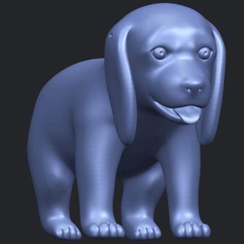 15_TDA0533_Puppy_01B03.png Download free STL file Puppy 01 • 3D printer template, GeorgesNikkei