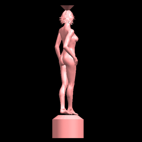05.png Download free STL file Naked Girl with Vase on Top (i) • 3D print template, GeorgesNikkei