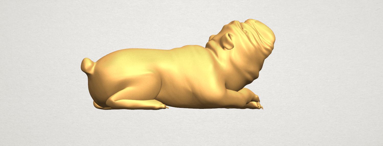TDA0574 Bull Dog 07 A06.png Télécharger fichier STL gratuit Chien de taureau 07 • Objet imprimable en 3D, GeorgesNikkei