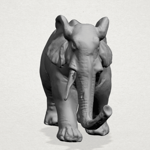 Elephant 01 -A05.png Download free STL file Elephant 01 • 3D printer design, GeorgesNikkei
