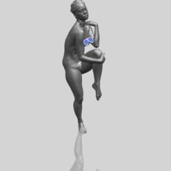 Naked Girl J01 3D model, Miketon