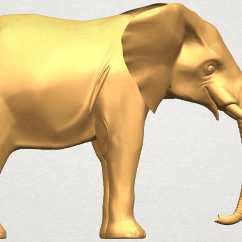 TDA0592 Elephant 07 A05.png Télécharger fichier STL gratuit Eléphant 07 • Objet à imprimer en 3D, GeorgesNikkei