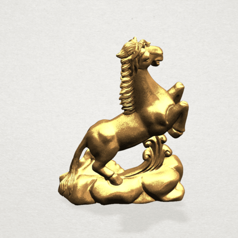 Chinese Horoscope07-02.png Télécharger fichier STL gratuit Horoscope Chinois 07 Cheval Chinois • Design imprimable en 3D, GeorgesNikkei