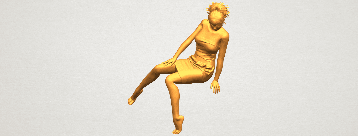 A01.png Download free STL file Naked Girl E07 • 3D printing object, GeorgesNikkei