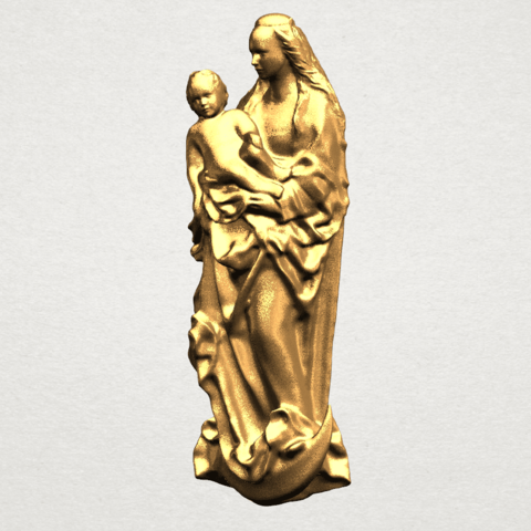 Mother and Child (vi) - A02.png Download free STL file Mother and Child 06 • 3D printing template, GeorgesNikkei