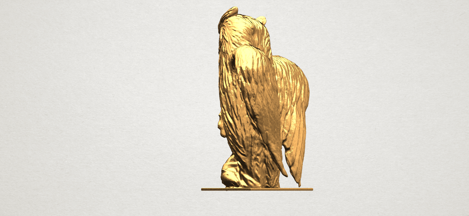 Owl (ii) A03.png Download free STL file Owl 02 • 3D printer object, GeorgesNikkei