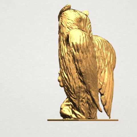 Owl (ii) A03.png Télécharger fichier STL gratuit Hibou 02 • Plan pour imprimante 3D, GeorgesNikkei