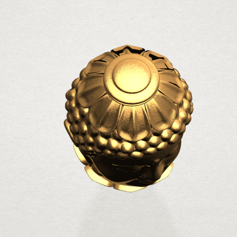 Buddha - Head Sculpture 80mm -A08.png Download free STL file Buddha - Head Sculpture • 3D printing model, GeorgesNikkei