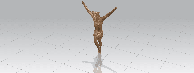 TDA0230 Jesus (ii) A01.png Download free STL file Jesus 02 • 3D printing template, GeorgesNikkei