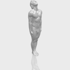 Naked Man Body 01 3D printer file, Miketon