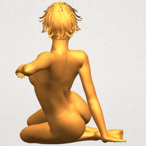 A06.png Download free STL file Naked Girl F01 • 3D printing template, GeorgesNikkei