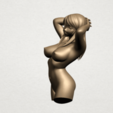 Naked Girl - half body A02.png Download free STL file Naked Girl 01- half body • 3D printing template, GeorgesNikkei
