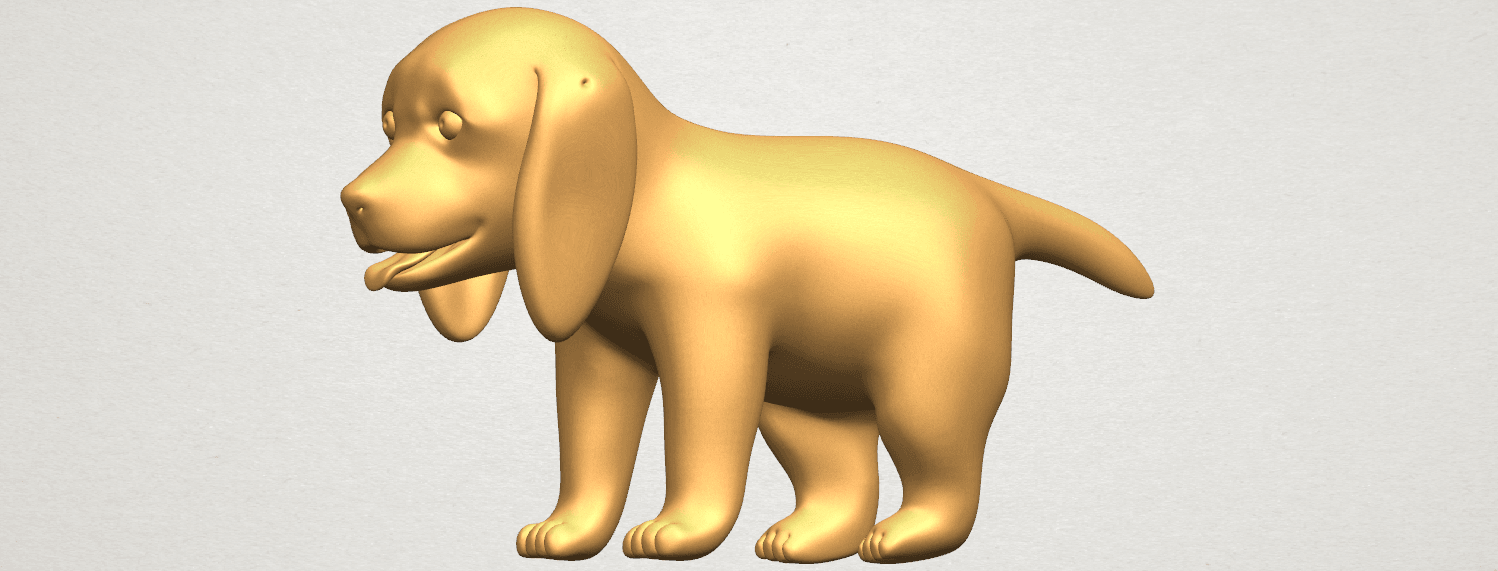 TDA0533 Puppy 01 A05.png Download free STL file Puppy 01 • 3D printer template, GeorgesNikkei