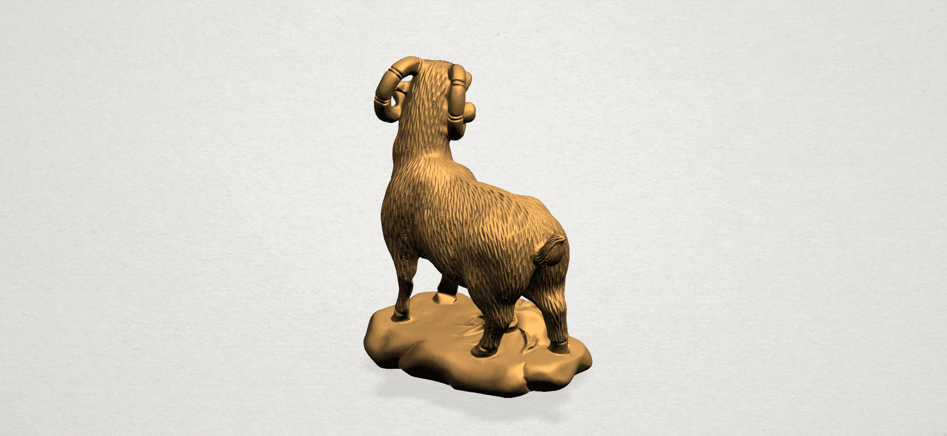 Chinese Horoscope08-A04.png Download free STL file Chinese Horoscope 08 Goat • Model to 3D print, GeorgesNikkei