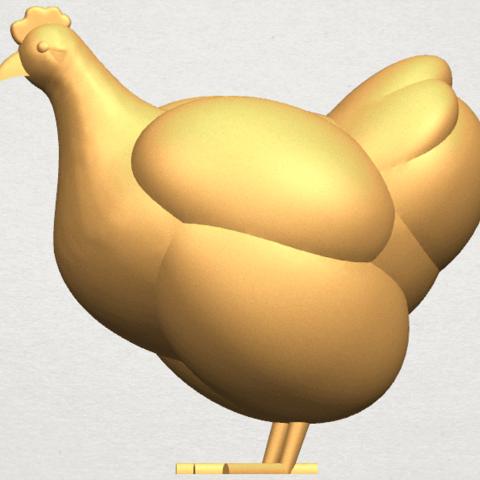 TDA0484 Hen A03.png Télécharger fichier STL gratuit Poule • Design pour imprimante 3D, GeorgesNikkei