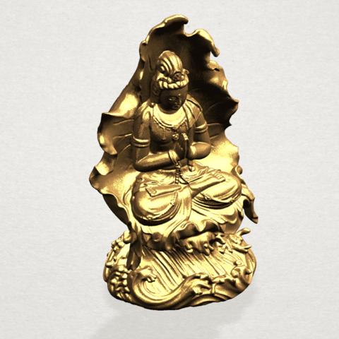 Avalokitesvara Buddha (with Lotus Leave) (ii) A10.png Download free STL file Avalokitesvara Buddha (with Lotus Leave) 02 • Model to 3D print, GeorgesNikkei