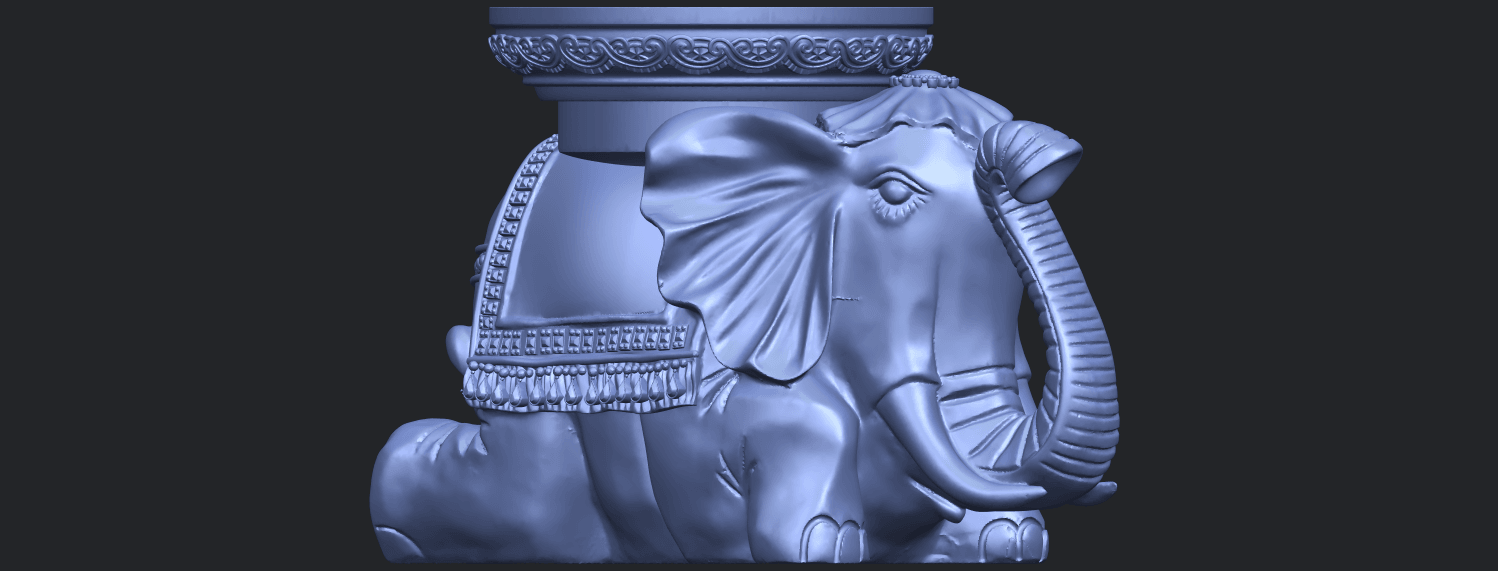 11_TDA0501_Elephant_TableB09.png Download free STL file Elephant Table • 3D printing object, GeorgesNikkei