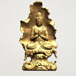 Free 3D model Avalokitesvara Buddha (with Lotus Leave) 02, GeorgesNikkei