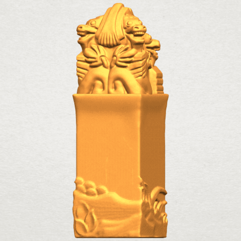A07.png Download free STL file Dragon Stamp 02 • 3D printing model, GeorgesNikkei