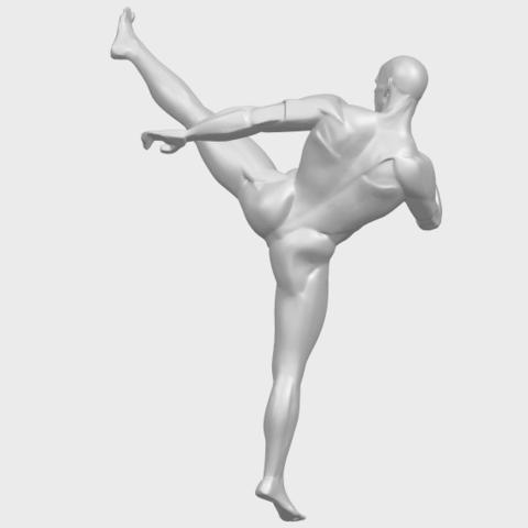 06_TDA0547_Man_KickingA07.png Télécharger fichier STL gratuit Man Kicking • Objet pour impression 3D, GeorgesNikkei