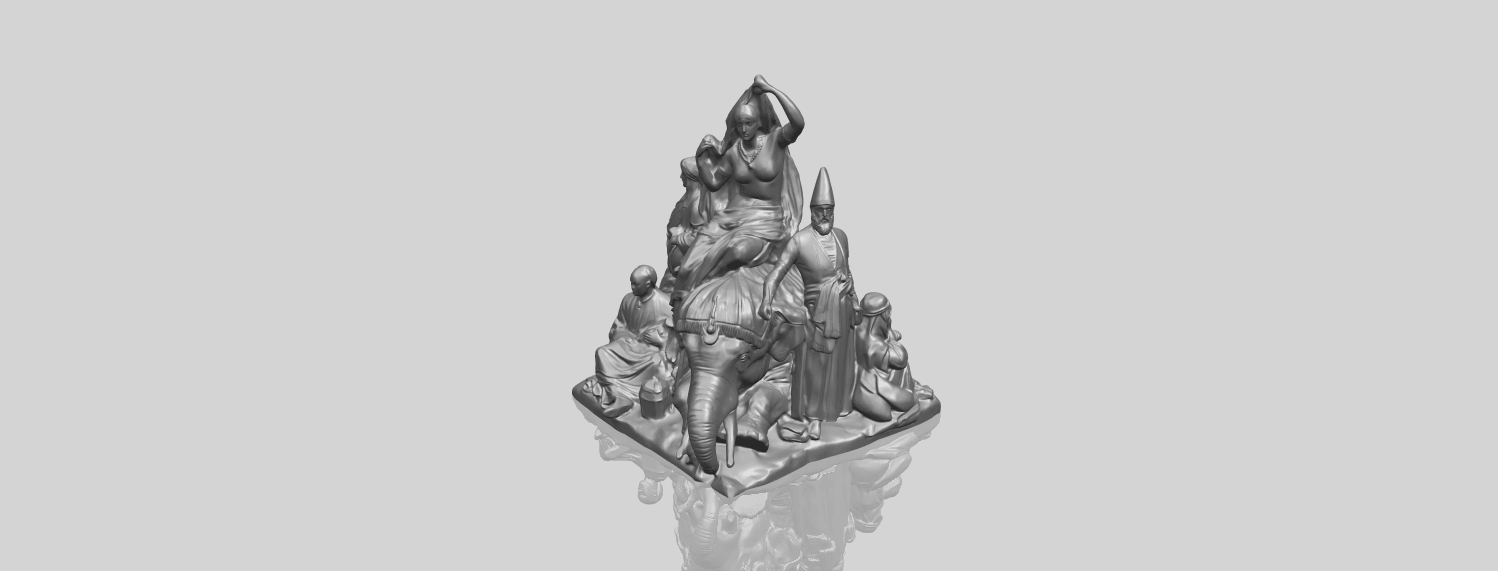 04_TDA0256_Villagers_and_ElephantA00-1.png Download free STL file Villagers and Elephant • 3D print design, GeorgesNikkei