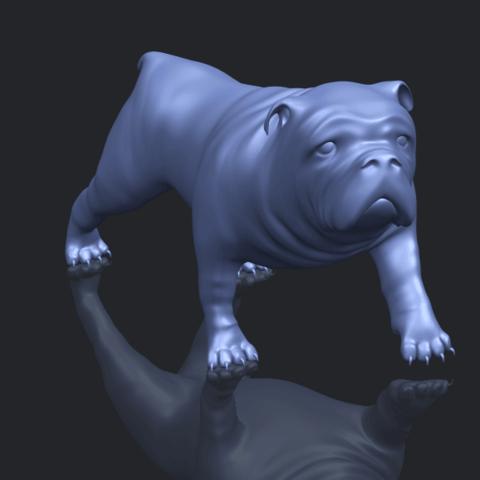 14_TDA0520_Bull_Dog_01B00-1.png Télécharger fichier STL gratuit Chien de taureau 01 • Plan pour impression 3D, GeorgesNikkei