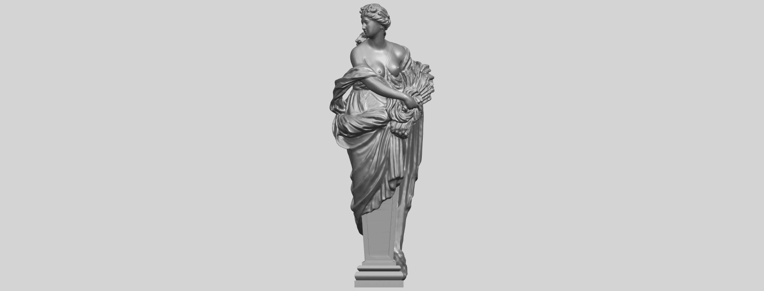 12_TDA0260_Sculpture_AutumnA01.png Download free STL file Sculpture - Autumn • 3D print template, GeorgesNikkei