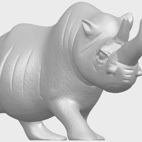 TDA0310_Rhinoceros_iiA08.png Download free STL file Rhinoceros 02 • 3D printing model, GeorgesNikkei