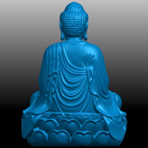 05.png Télécharger fichier STL gratuit Gautama Bouddha 01 • Plan pour impression 3D, GeorgesNikkei