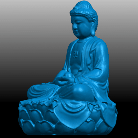 02.png Télécharger fichier STL gratuit Gautama Bouddha 01 • Plan pour impression 3D, GeorgesNikkei