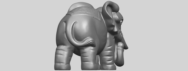 Elephant_03_-122mmA08.png Télécharger fichier STL gratuit Éléphant 03 • Modèle imprimable en 3D, GeorgesNikkei