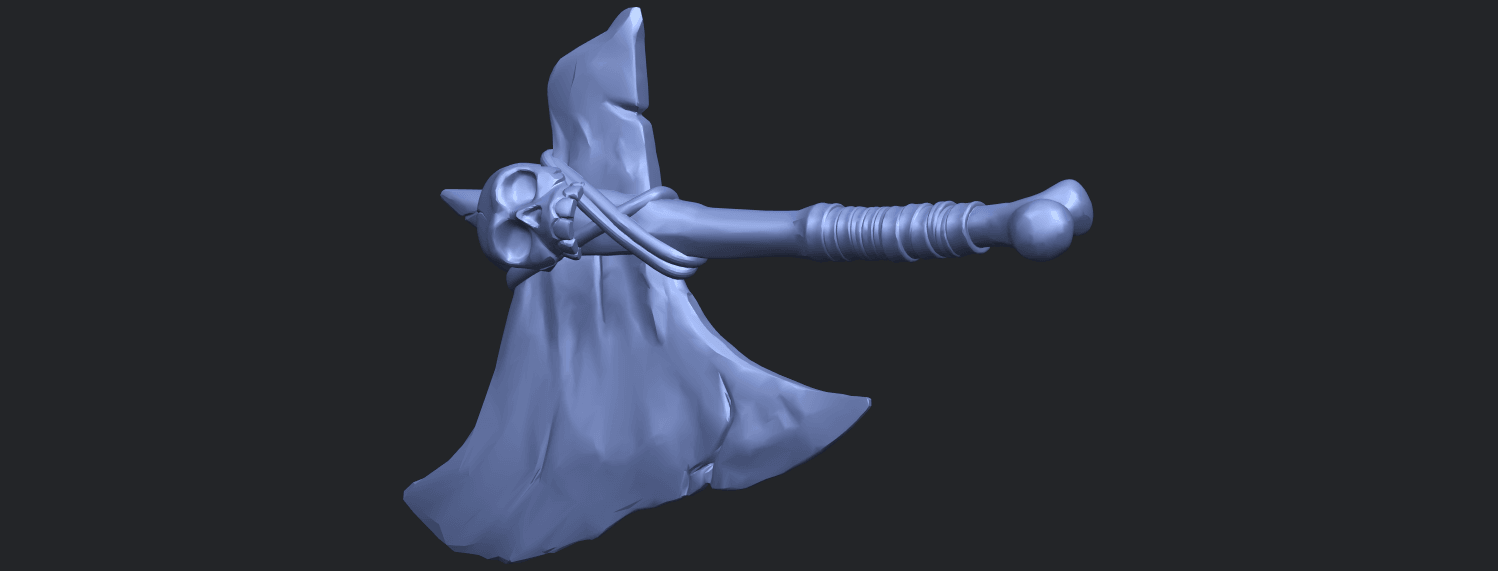 30_TDA0541_Pirate_AxeB02.png Download free STL file Pirate Axe • 3D printer template, GeorgesNikkei