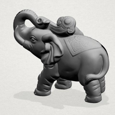 Elephant 02 -A02.png Télécharger fichier STL gratuit Eléphant 02 • Plan imprimable en 3D, GeorgesNikkei
