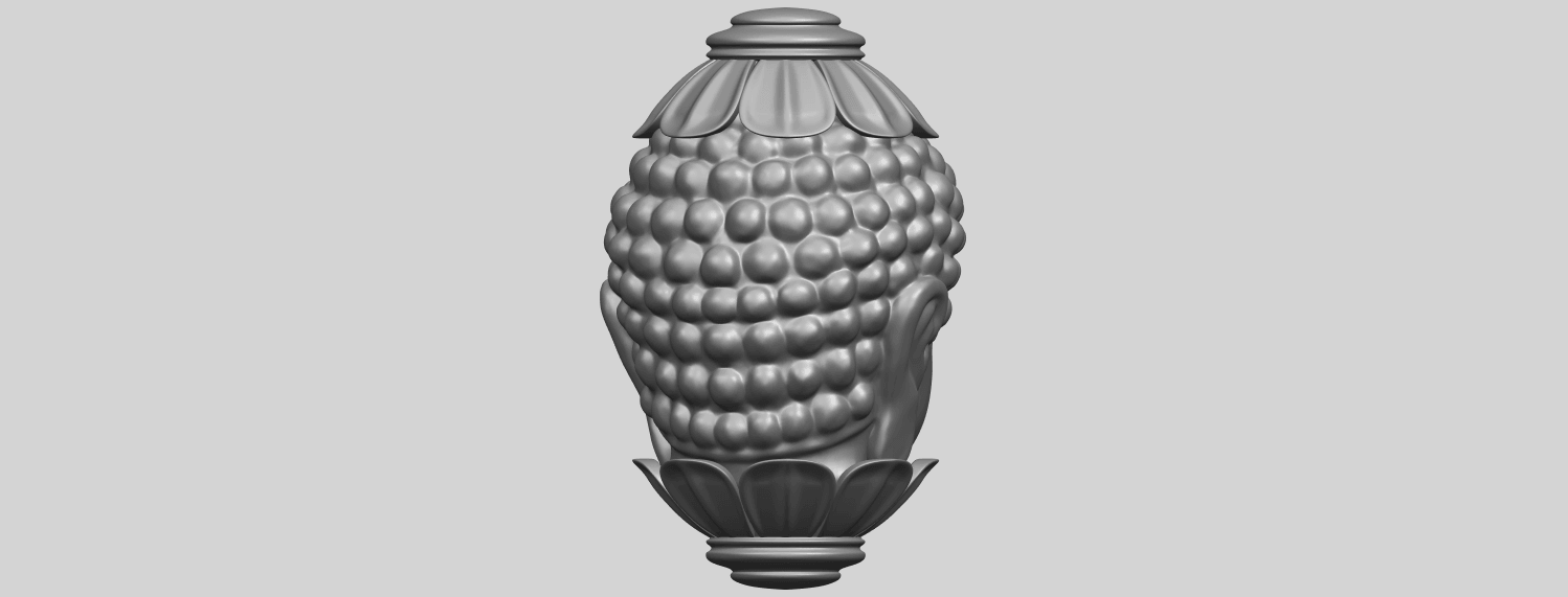 11_Buddha_Head_Sculpture_80mmA07.png Download free STL file Buddha - Head Sculpture • 3D printing model, GeorgesNikkei