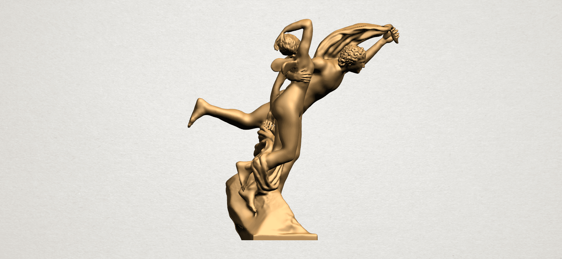 Cupid and Psyche - A07.png Download free STL file Cupid and Psyche • 3D printing template, GeorgesNikkei