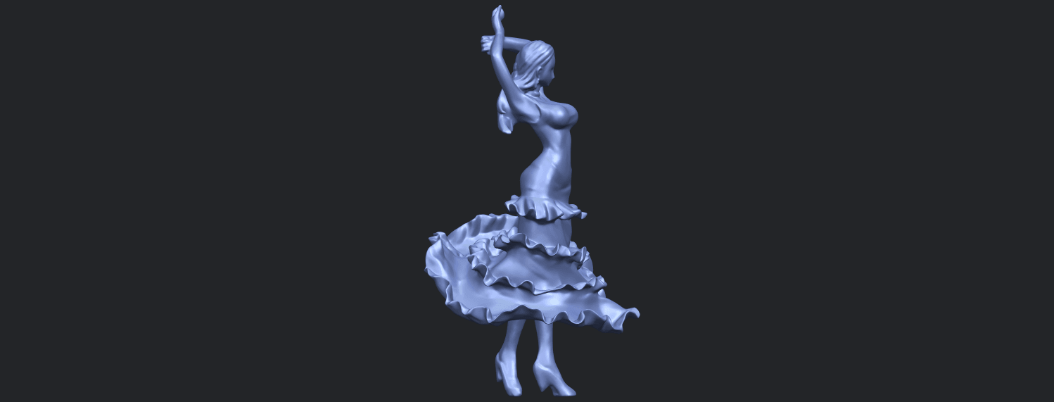 23_Girl_with_Dress_80mm-B02.png Download free STL file Girl with Dress • Object to 3D print, GeorgesNikkei