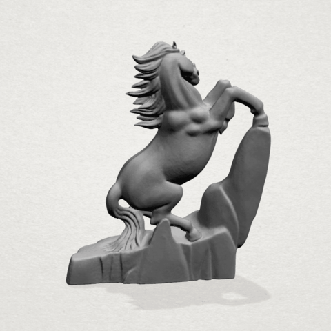 Horse - A03.png Download free STL file Horse 01 • 3D printing model, GeorgesNikkei