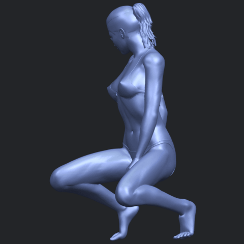 15_TDA0634_Naked_Girl_D04B04.png Download free STL file Naked Girl D04 • 3D printable template, GeorgesNikkei