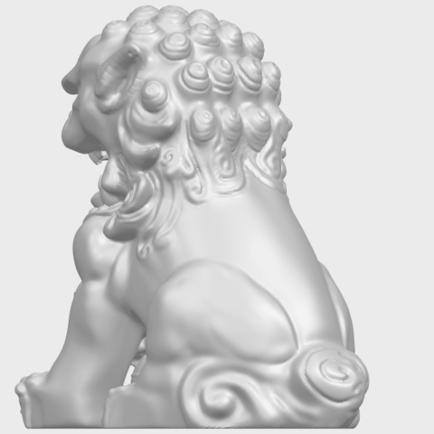 04_TDA0500_Chinese_LionA05.png Download free STL file Chinese Lion • 3D printing object, GeorgesNikkei