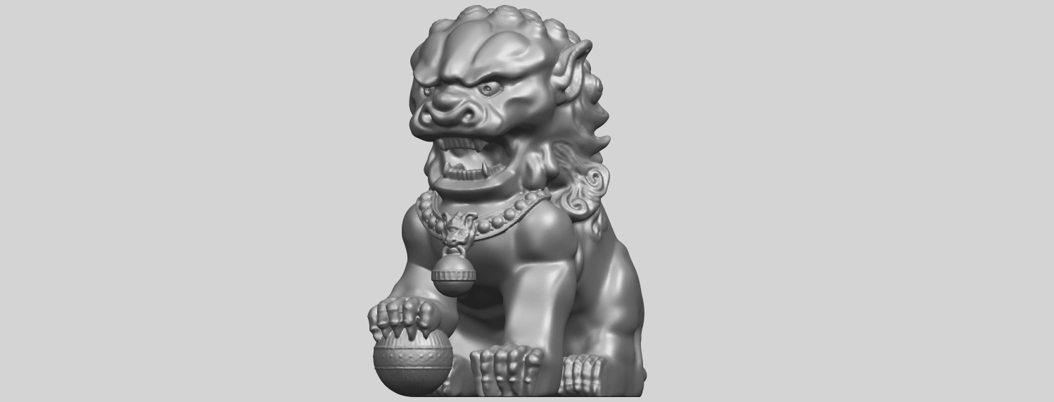 04_TDA0500_Chinese_LionA02.png Download free STL file Chinese Lion • 3D printing object, GeorgesNikkei
