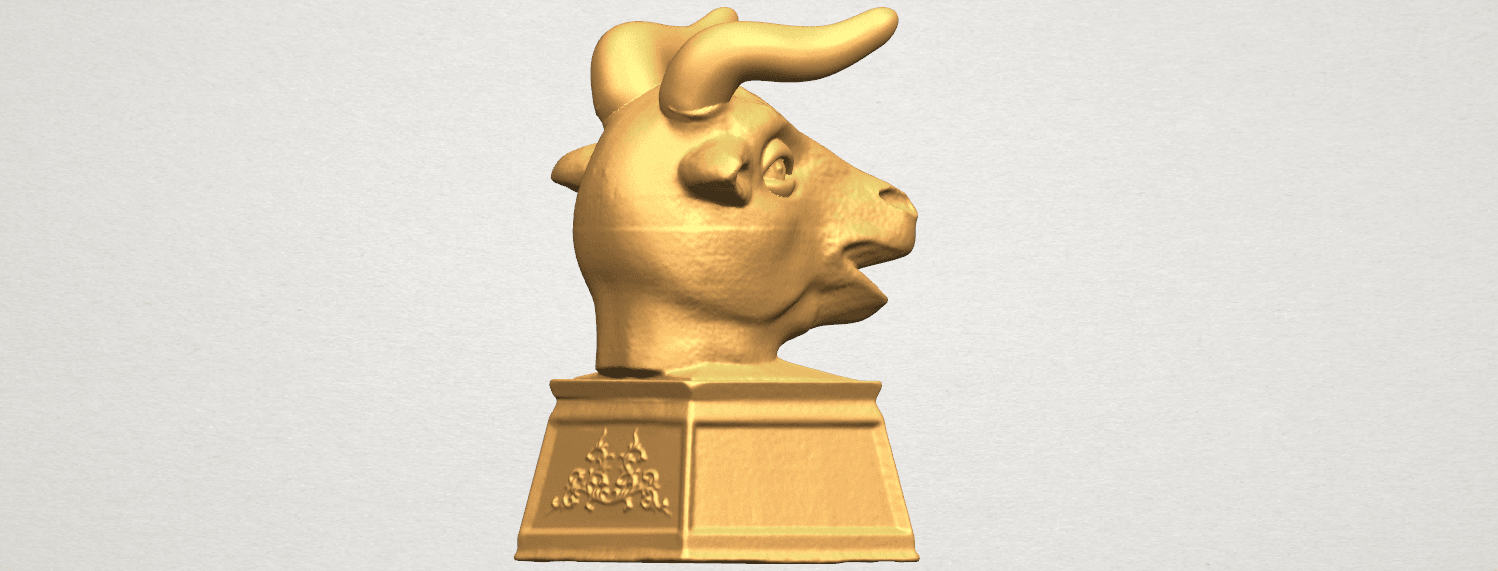 TDA0509 Chinese Horoscope of Bull 02 A05.png Download free STL file Chinese Horoscope of Bull 02 • 3D printing design, GeorgesNikkei