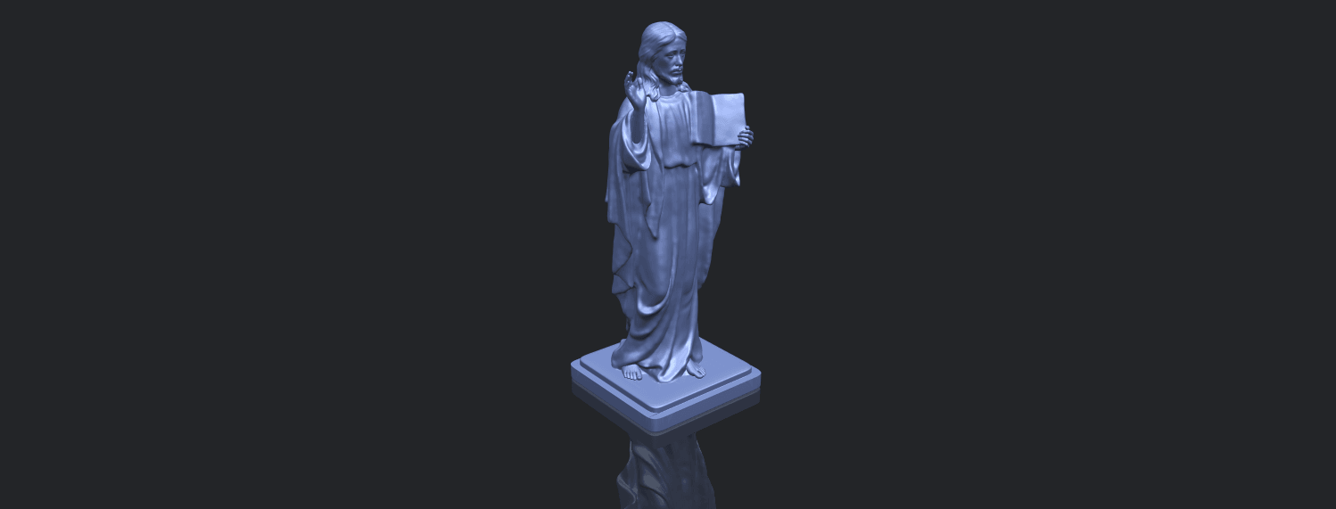 19_TDA0237_Jesus_vB00-1.png Download free STL file Jesus 05 • 3D print object, GeorgesNikkei